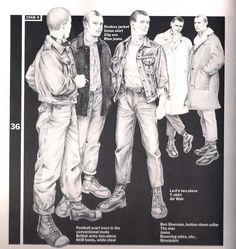 Mod look (skin head) Skinhead Men, Skinhead Boots, Skinhead Fashion, Skinhead Style, Skinhead Clothing, Shirt Clips, Zoot Suits, Skin Head, Hippie Man