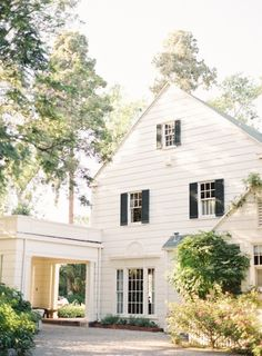 Grove House: Exterior Inspiration but small and green shutters instead of black