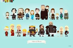 """Game of Thrones: House Stark"" by Chris Bishop / Chris Bishop compre em inprnt"