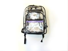 Clear Plastic 90s 3Pocket Backpack FULL SIZE by ACTUALTEEN on Etsy, $44.00