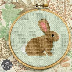 Rabbit cross stitch.