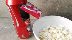 How to Make Mini Popcorn Machine With Coke Can