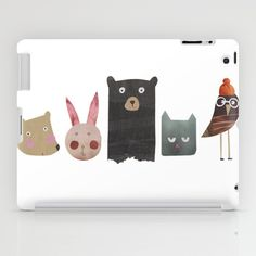 Cute case for your iPad featuring tender illustrations of baby animals, available at Society 6. #Society6, #ipadcase, #ipad, #case, #illustration, #babyanimals #idealgifthunt