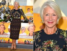 Helen Mirren In Dolce & Gabbana - 'The Hundred Foot Journey' London Photocall - Red Carpet Fashion Awards