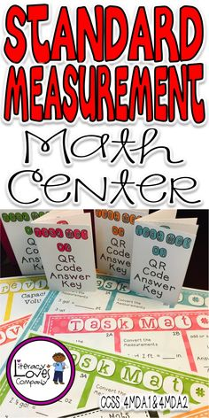 Practice, review, test prep, or assessment!  This easy to prep math center includes converting, adding and subtracting, and multi-step word problems! $ ~Literacy Loves Company