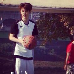 I can hear the distant squealing sound of fanfic writers over basketball star player do kyungsoo Lifetime Basketball Hoop, Xavier Basketball, Basketball Finals, Best Basketball Shoes, Basketball Pictures, Basketball Uniforms, Baseball Jerseys, Basketball Camps, Basketball Video Games