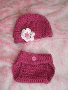 Free Crochet Diaper Soaker Pattern | ... Knotty Crochet: Little brimmed hat and diaper cover FREE PATTERN