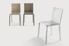 Alice chair available in 5 leather colors