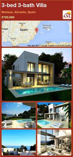 3-bed 3-bath Villa in Benissa, Alicante, Spain ►€720,000 #PropertyForSaleInSpain