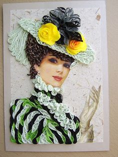 Quilled Lady - hard to believe this is all done with paper :-)