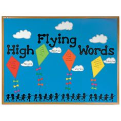 Help students learn the difference between nouns, verbs, adjectives and adverbs. Create a bulletin board with kites for each part of speech. Then have students write words on each kite that illustrate that category.Let's stay connected http://www.accucuteducation.com/Sign-up-for-E-mails-W3.aspx