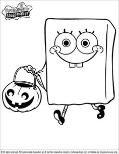 Print coloring pages for kids spongebob and patrick hunting