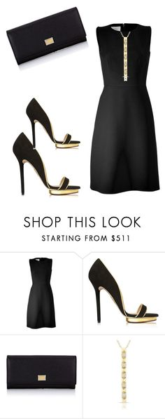 """Black and Gold outfit"" by kercey ❤ liked on Polyvore featuring Valentino, Charlotte Olympia and Dolce&Gabbana"