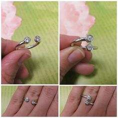 Great for mother's rings or resetting old stones!  Bezel Set Diamond Wrap Rings