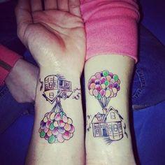 Como este tatuaje inspirado en Up: | 21 Adorables tatuajes de pareja inspirados en Disney