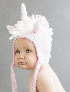 The Unicorn is as unique as it is adorable! The Blueberry Hill is happily featuring it as on of their newest additions to their collection! Like with all of their hats, this is made with 100% super so
