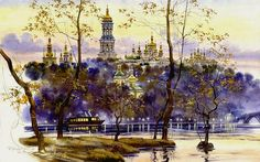 """ Kyiv"" painting by Sergij Brandt, Ukraine, from Iryna with love"