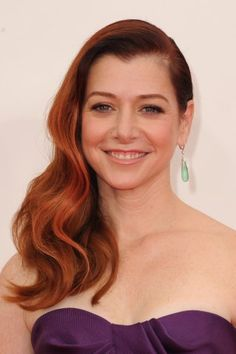 Alyson Hannigan at an event for The Primetime Emmy Awards Kirsten Dunst, Alyson Hannigan, Amy Adams, Ginger Actresses, Shades Of Red Hair, 70s Hair, Celebrity Babies, Celebrity Women, Star Wars