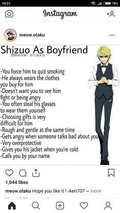 Boyfriend Best Friend, Anime Boyfriend, Future Boyfriend, Anime Horoscope, Cute Anime Boy, Anime Boys, Anime Rules, Durarara, Cute Memes
