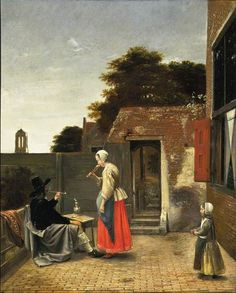 Timeless Editions Acrylic Photo Print Pieter de Hooch A Dutch Courtyard National Gallery of Art Washington Johannes Vermeer, Georg Trakl, Pieter De Hooch, Grudge Match, Infinite Art, Dutch Golden Age, National Gallery Of Art, Dutch Painters, In Vino Veritas
