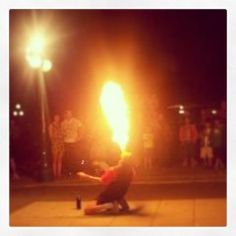 Street performer in Quebec, Canada, summer 2012.