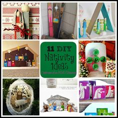 Confessions of an ADD Housewife: 11 DIY Nativity Ideas