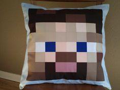 Minecraft steve pillow/patchwork