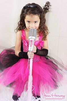 Hot Pink and Black Punk Princess Couture Crochet Tutu Dress