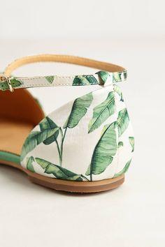 Sandales motif jungle