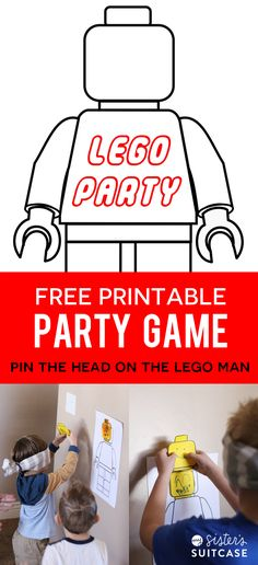Fun Lego Party Game with Free Printables on My Sister's Suitcase!