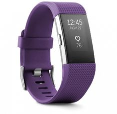 Buy Fitbit Charge 2 Heart Rate Fitness Wristband Plum Small (US Version) Best Fitness Watch, Best Fitness Tracker, Heart Rate Zones, Fitness Watches For Women, Fitness Wristband, Fitbit Charge, Sporty Chic, Burn Calories, Shopping