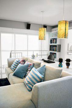 Sala de TV aconchegante para curtir com a família