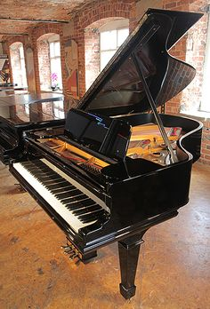 A rebuilt, 1901, Steinway Model A grand piano with a black case and spade legs. £37,000 at Besbrode Pianos