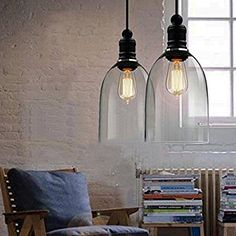Edison Weinlese Leuchter transluzente Glaslampenschirm Deckenleuchte Pendelleuchte Lampen Befestigung, E27