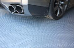 Diamond pattern nitro rolls offer the best value roll out vinyl garage floor covering on the market. Rolls can be used as a wall to wall garage flooring or as a mat or pad to cover one area of a garage. Similar to Coleman flooring. Vinyl Garage Flooring, Garage Flooring Options, Rubber Flooring, Flooring Tiles, Concrete Floors, Clean Garage, Garage Shed, Garage Storage, Garage Organization