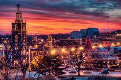Kansas City Plaza during the holidays