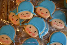 Galletas pocoyo en glasa Cowboy Birthday, Baby 1st Birthday, 3rd Birthday Parties, Ideas Bautizo, James 1st, Baby Party, Birthday Decorations, Party Themes, Party Ideas