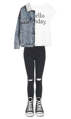 """""""Untitled #34"""" by queenkineasha ❤ liked on Polyvore featuring Topshop, MANGO and Converse"""