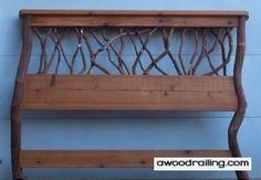 homemade headboards | Rustic Mountain Laurel Headboard