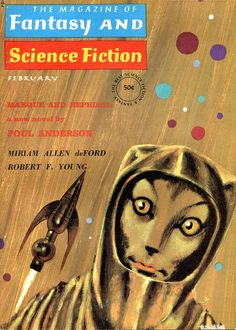 scificovers: The Magazine of Fantasy and Science Fiction February 1965. Cover by Jack Gaughan.