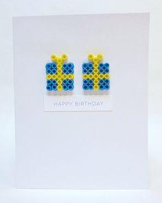 Perler Bead Dimensional Birthday Presents Birthday Card