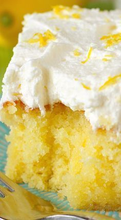 Drenched Lemon Cream Cake.