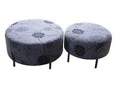 Pouf tavolino ~ Pouf in velluto grigio ines cm arredi chic
