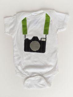 Tourist Baby Camera One Piece Shirt. $20.00, via Etsy.