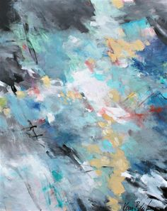 "Boreas Arrives 30x24"" abstract expressionist painting by Kerri Blackman"