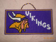 MN Vikings Wall hanging by SpyderCrafts on Etsy, $9.00
