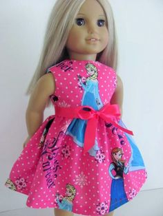 https://www.etsy.com/listing/232087058/frozen-inspired-pink-doll-dress-and-sash