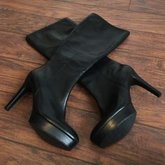 Spotted while shopping on Poshmark: ⭐️SALE⭐️Never Worn! Rockport Black Leather Boots! #poshmark #fashion #shopping #style #Rockport #Shoes