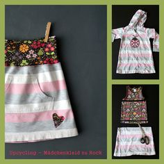 Upcycling Mädchenkleid zu Kinderrock - upcycling childrens' dress to girls' skirt
