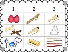 Instruments Non-Pitched Percussion {Music Bingo Game} Music Bingo, Bingo Games, Music Games, Hand Drum, Music Do, Tambourine, Elementary Music, Teaching Music, Music Lessons